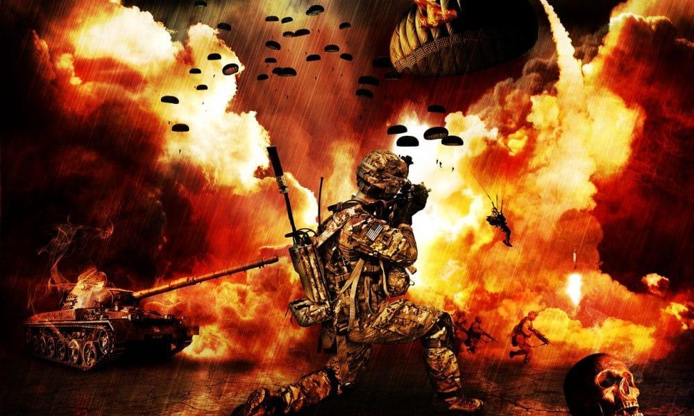 Scena di guerra immaginata