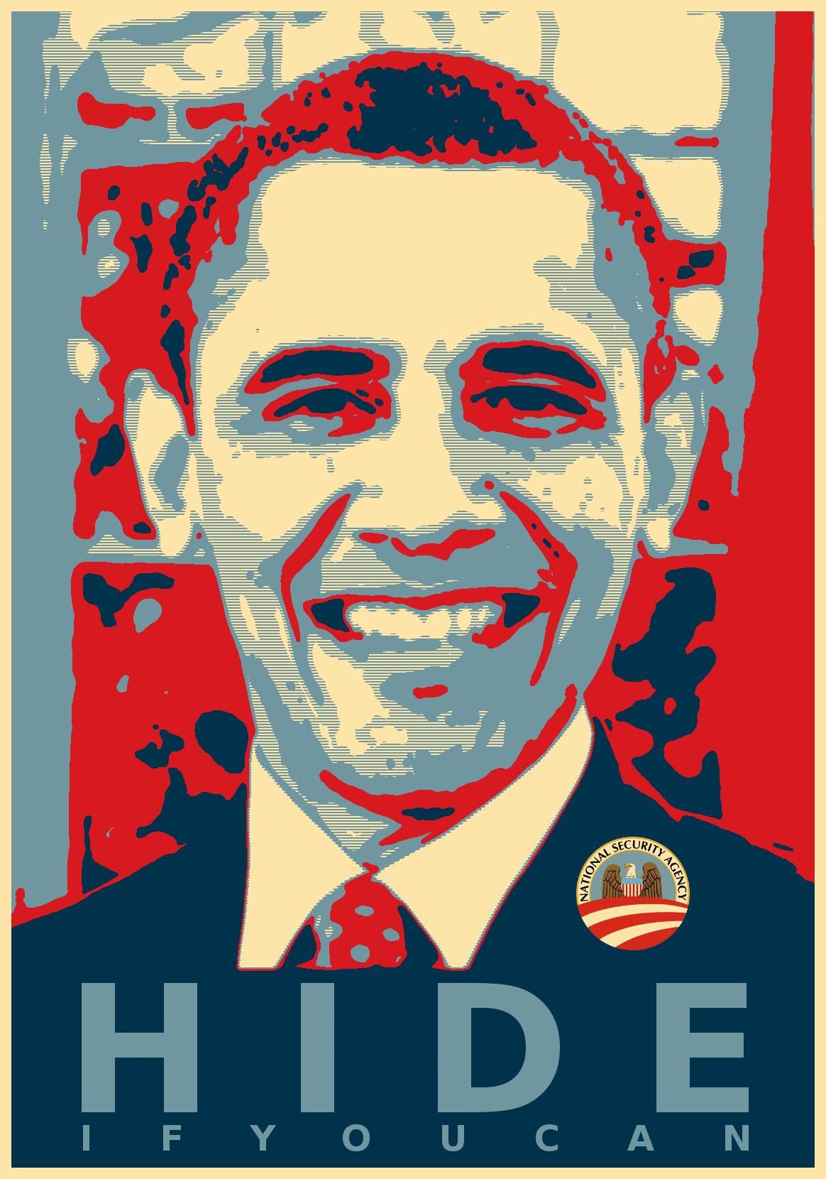 Obama Hide Poster - Hide if you can