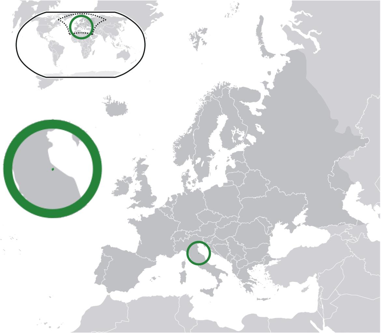 Posizione di San Marino
