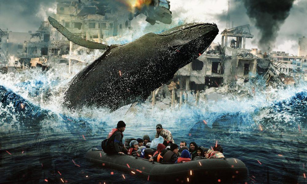 Una rappresentazione del tutto realistica della traversata dei rifugiati via mare